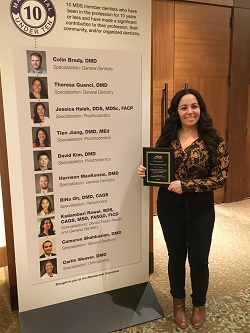 CHC of Cape Cod Dental Director Dr Guanci Ten Under Ten 2019 Award